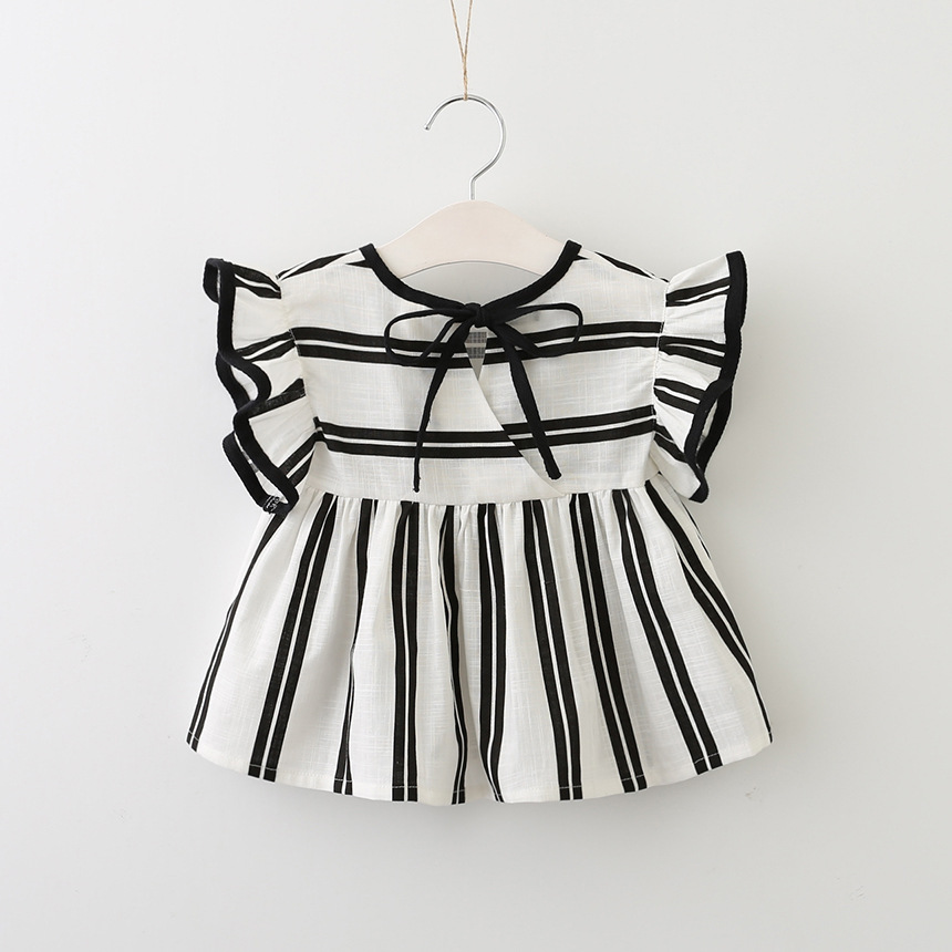 Lovely cozy summer baby tops ruffles stripe blouse for kids girl short sleeve cotton outfit casual tops toddler baby clothingLovely cozy summer baby tops ruffles stripe blouse for kids girl short sleeve cotton outfit casual tops toddler baby clothing