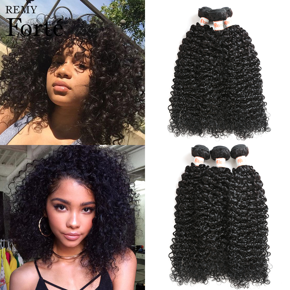 Official Website Remy Forte Natural Color 10 To 26 Inches Brazilian Fumi Curly 100% Human Hair 4 Bundles Deal Hair Extension Free Shipping Hair Weaves Hair Extensions & Wigs