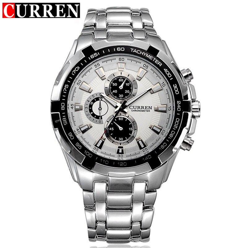 Prix pour Curren montre homme militaire relogio masculino quartz-montre hommes montres top marque de luxe sport montre-bracelet des hommes marque de mode 2017