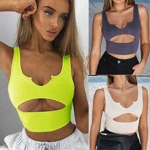 US Women Buckle Vest Boob Tube Crop Top Bralet Sheer Mesh T Shirt Cami Tank Top fringe cami tube top