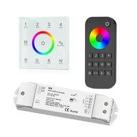 Новый T14 управляемый контроллер rgbw Сенсорная панель 2,4 ГГц RF на дистанционном беспроводном управлении 4 зона, RGBW светодиодные ленты контролл...