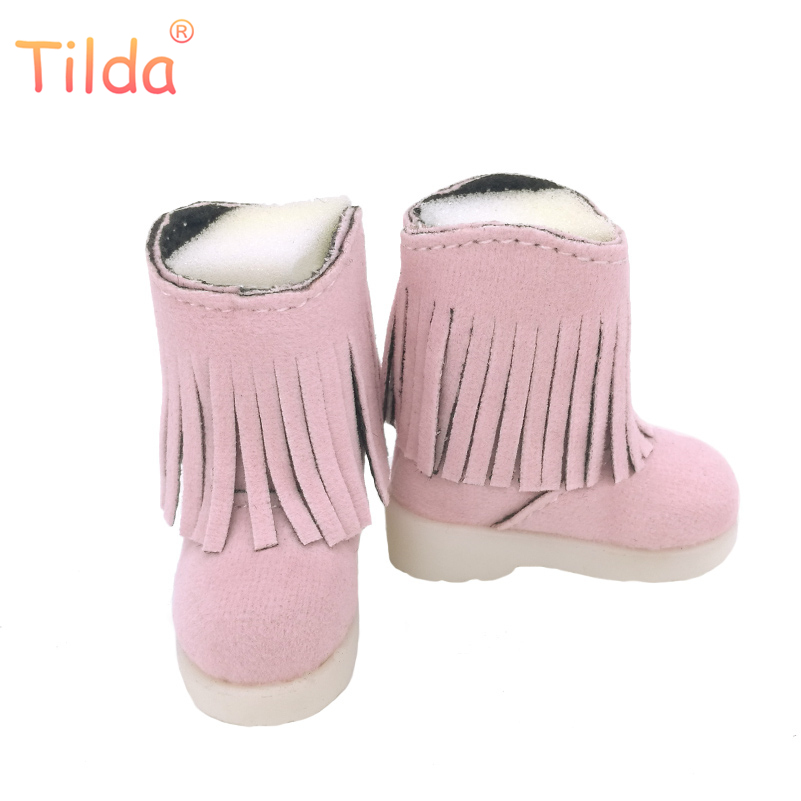 Tilda 5cm 1/6 PU Leather Doll Shoes for BJD SD Dollfie Dolls Costome Dolls Accessories Creative Gifts Winter Puppet Boots Toy bjd bb black high leather boots for 1 6 yosd super dollfie luts dod as dz doll shoes sb16