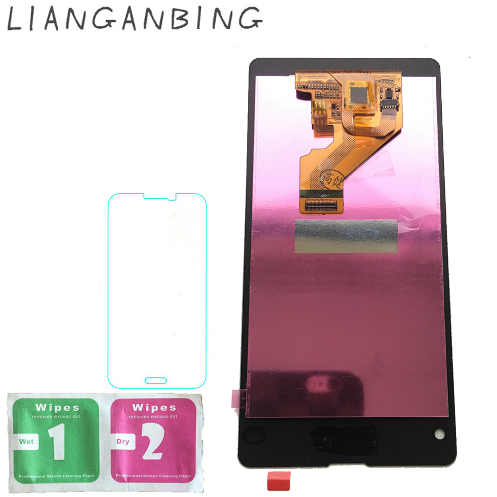 New 100% LCD Display Touch Screen Digitizer Sensors Assembly Panel Replacement For Sony Xperia Z1 Compact M51w Z1 Mini D5503