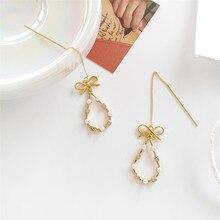 Metal geometry golden earrings personality only beautiful bowknot Fashion girl jewelry earring fine jewellery