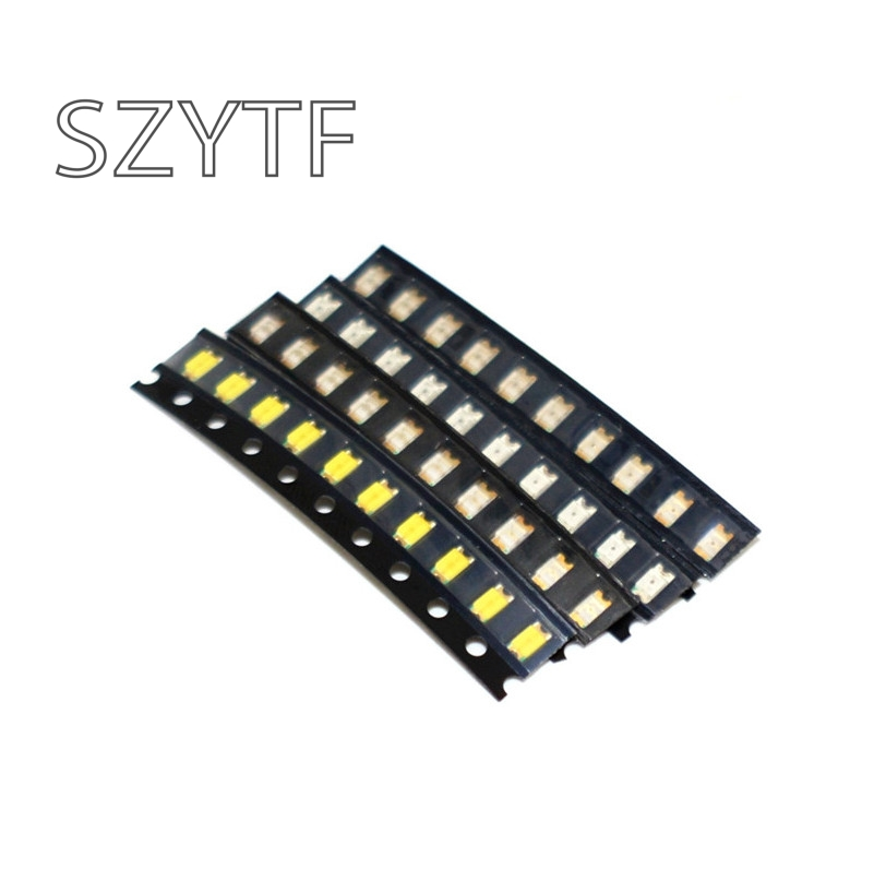 1206 LED components package red, green, blue and white four color (a total of 40) patch light-emitting diodes 40pcs/1lot