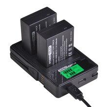 PowerTrust DMW-BLC12 DMW-BLC12E батарея+ ЖК USB двойной зарядное устройство для Panasonic Lumix DMC-FZ200, FZ300, FZ1000, FZ2500, G5, G6, G7, GX8