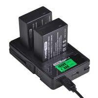 PowerTrust DMW-BLC12 DMW-BLC12E batterie + LCD USB double chargeur pour Panasonic Lumix DMC-FZ200, FZ300, FZ1000, FZ2500, G5, G6, G7, GX8