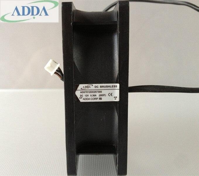 Nouvelle D'origine ADDA AD07012DX257300 12 V 0.35A pour Acer EV-S21T D200 projecteur ventilateur de refroidissement