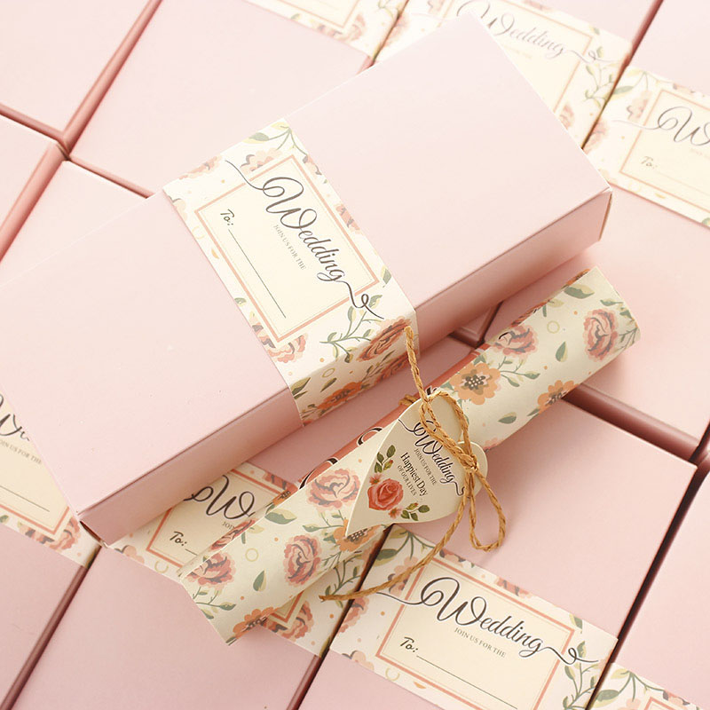 10pcs Romantic European Style Wedding Invitation Creative Wedding Invitation  Card And Box Party Supplies(