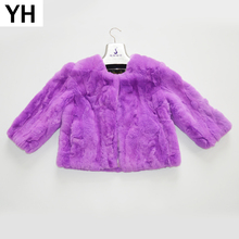 2019 Autumn Winter Women Real Rex Rabbit Fur Coat Casual Real Rex Rabbit Fur Jacket Warm Soft Genuine Rex Rabbit Fur Overcoat cheap REGULAR Double-faced Fur Natural Color O-Neck Real Fur YH-7090 Nine Quarter Covered Button Solid Short Slim Thick (Winter)