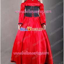 Vocaloid Meiko Cosplay Costume Red Outfit Gown H008