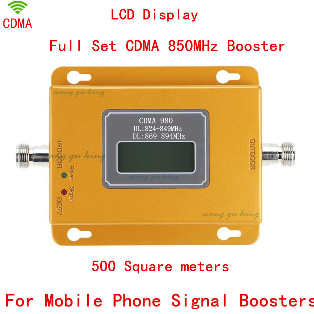 70dB CDMA980 LCD Display Cell Phone Signal CDMA Repeater, MOBILE 3G GSM CDMA 850mhz Signal Booster Amplifier With Power Adapter