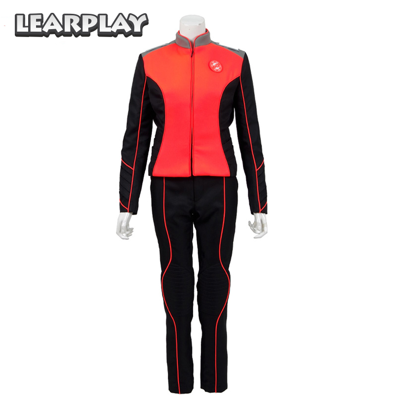The Orville Engineering Department Helmsman Uniform Cosplay Costume 2017 Starfleet Red Gordon Malloy Duty Outfit