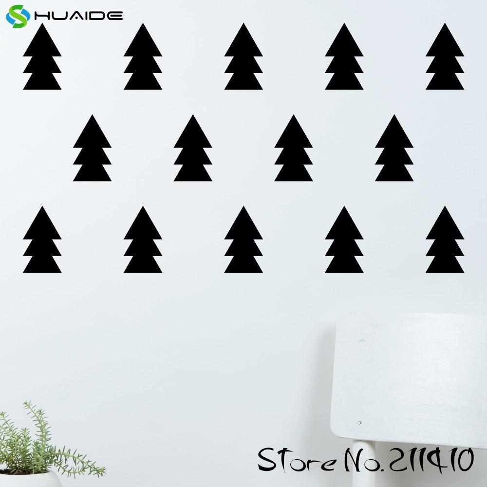 ᐂ28 unids/set Pino árbol patrón Decal sticker color personalizado ...