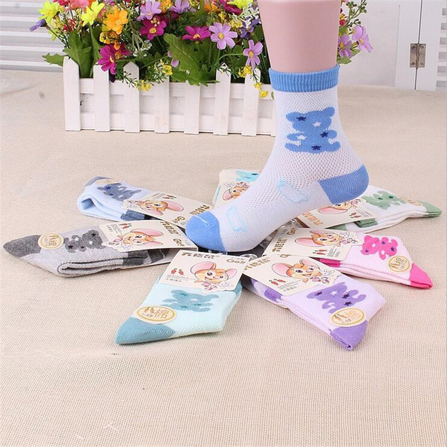 Cartoon 12pairs/lot Kids Socks Cotton Children Socks Baby Boys Girl Casual Socks For 1-7 years Kids
