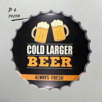 DL-COLD GROTER BIER ALTIJD VERSE Bar Fles Caps Metal Wall Art Antieke Oude Plaat Store Pub Schilderen Decor