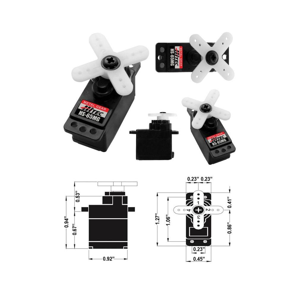 все цены на 100% Original Hitec HS-65MG HS 65mg Micro Servo Futaba JR Trex 450 V2 онлайн