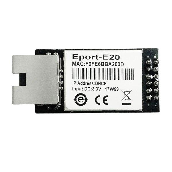 HF Eport-E20 FreeRTOS TTL Porta Serial para Ethernet Módulo Incorporado DHCP Servidor de Rede 3.3V Telnet TCP IP CE Certificado