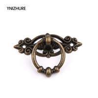 10PCS Antique Furniture Handles Vintage Cabinet Knobs And Handles Kitchen Cupboard Dresser Door Drawer Ring Pull