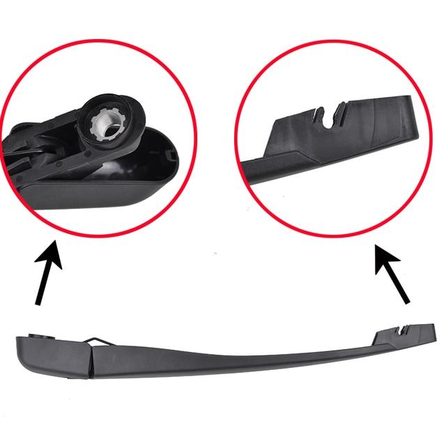 """Erick's Wiper 14"""" Rear Wiper Blade & Arm Set Kit For Nissan Versa 2007-2011 Windshield Windscreen Rear Window"""