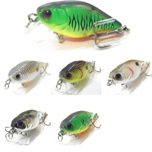 Cheap wLure 4.3g 3.5cm Tiny Lightweight Slow Floating Wide Wobble Size 10 Hooks Crankbait Fishing Lure for Small Size Fish C703