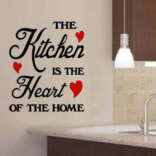 60 20cm The Kitchen Is Heart Of Home Wall Stickers Decals Art Quotes