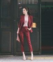 Wholesale2017 Autumn Women Suits Office Lady Business Work Wear Fashion Suit Red Black Business Women Suit