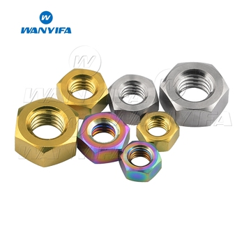 Wanyifa Titanium Nuts M5 M6 M8 Hex Nut for Bike Motorcycle Car Boat