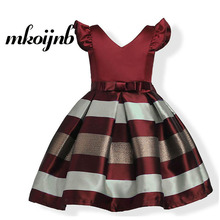 Girl Princess Sleeveless Dress Kids Stripe Bow Dresses for Girls Clothes 2018 Summer Fashion Children Clothing 4 6 8 10 12 Years