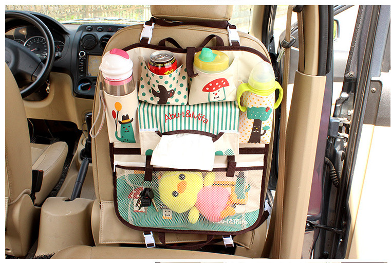 New Multifunctional Travel Car Seat Bag Black Nappy Mother Backseat Organizer Baby Carriage Stroller Storage Bags In Strollers Accessories From