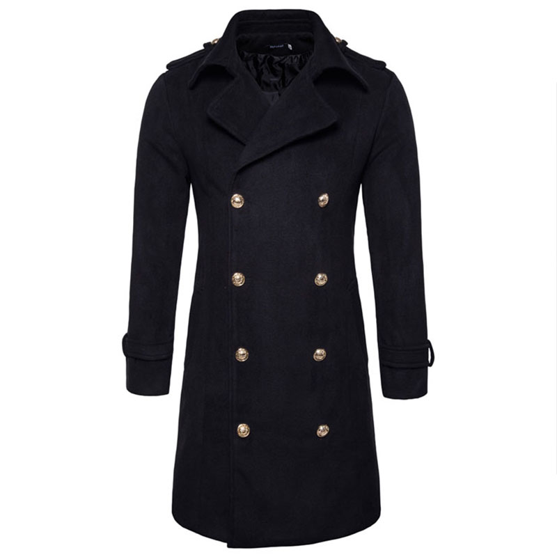 2018 Fashion brand Long Trench Coat Men Classic Fashion British Leisure Slim Fit Windbreaker Double Breasted Solid Wind Coat