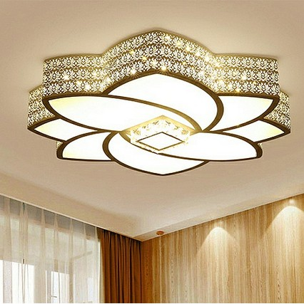flower LED ceiling lamps white modern atmosphere round romantic living room bedroom restaurant  LED ceiling light  ZA7111