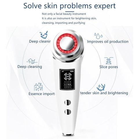 limpeza profunda facial lifting massageador eletrico dispositivo