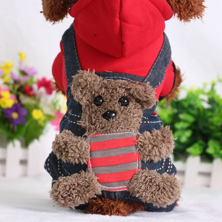 SYDZSW New Chihuahua Clothing Red Yellow Sport Dog Coat Hoodie for Small Dogs Cats Puppy Pet Jeans XS S M L XL XXL Dog Costume Wholesale2