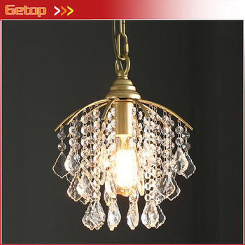 American Metal Pendant Light Aisle Corridor Stairs Ceiling Lamp Entrance Hall Cloakroom Balcony Crystal Lights E27