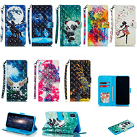 Wallet Stand Holder PU Leather Bag Soft Back Cover Flip Phone Case For Huawei Nova 4 Honor 8A Enjoy 9