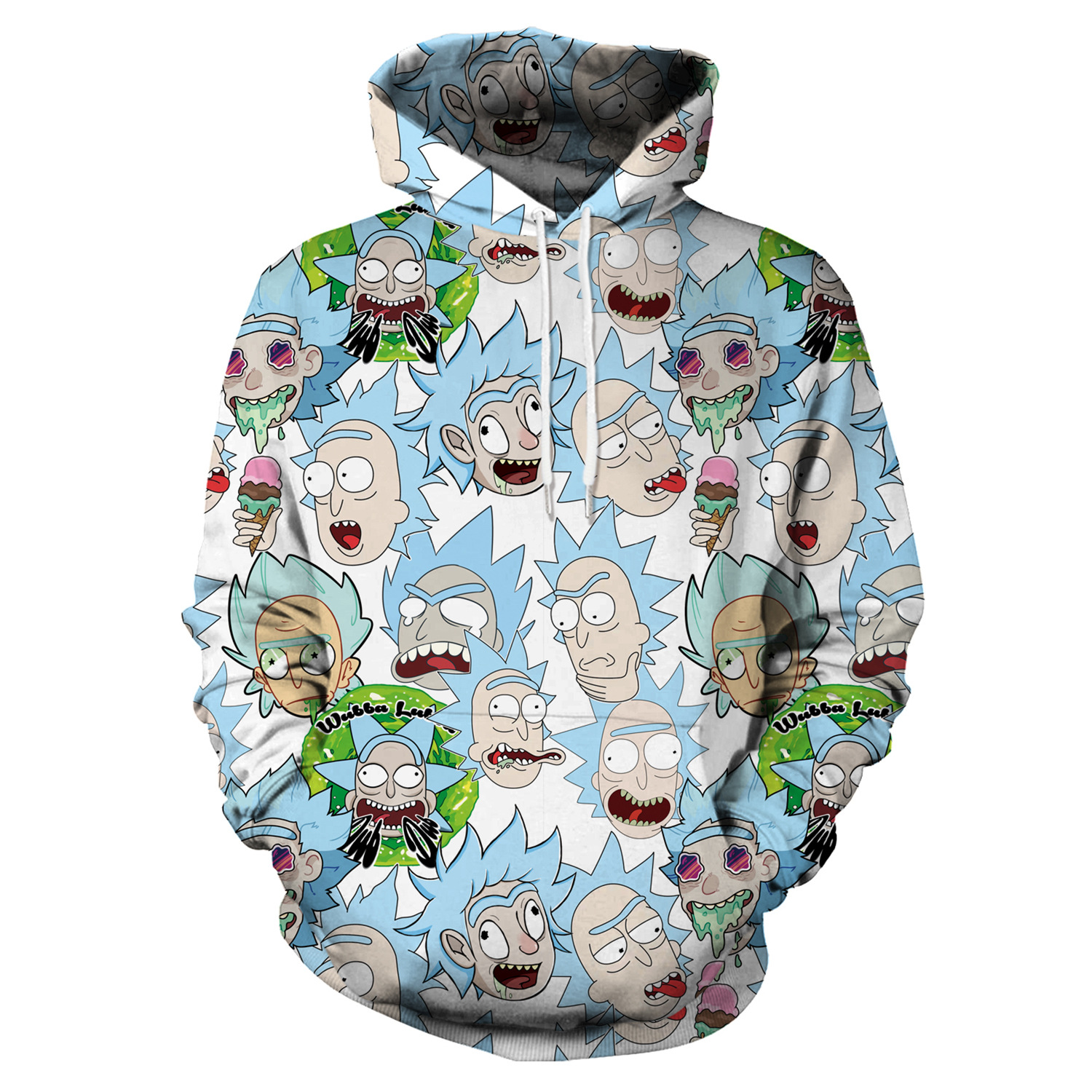 Hoodies Anime Rick and Morty 3D Print Hoodies with Hat Men Hoodie Loose Hooded Sweatshirt Sudaderas Para Hombre Streetwear