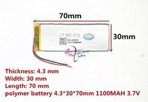 Image 2 - أفضل بطارية العلامة التجارية 3.7 V بطارية ليثيوم بوليمر 433070 403070 1100 mAH