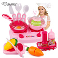 Classic Cooking Toys for Children Toy&Game Pretend Play Toys Cutting Food Set Kids Kitchen Utensils Food Cooking Toys Xmas Gifts
