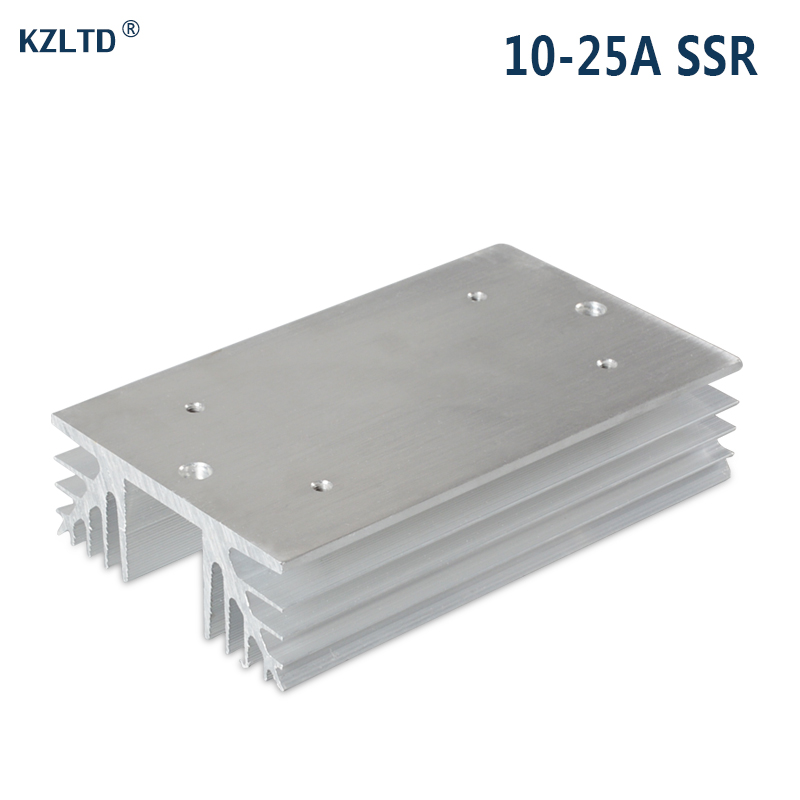 SSR Heat Sink for 20A 25A 40A Three Phase Solid State Relay Aluminum Heatsinks Heat Dissipation Dissipator SR-L stylish sweetheart neck 3 4 sleeve layered women s lace dress