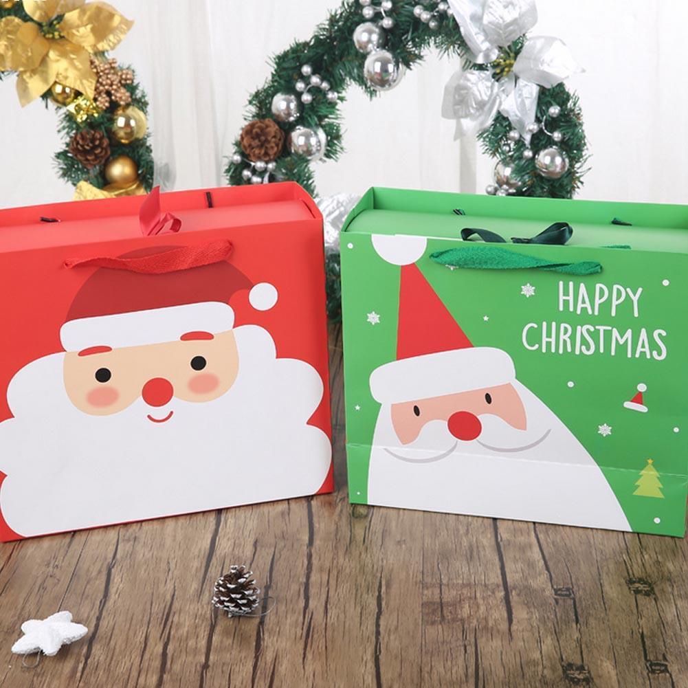 Aliexpress Com Buy Home Utility Gift Birthday Gift: 1pc Christmas Festival Gift Paper Bags Gift Bag Christmas