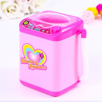 Play House Home Simulation Q Version Small Household Appliances Mini Washing Machine Toys Electric Children New Strange Toy Gift