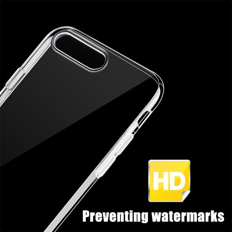TIEGEM Phone Cases For IPhone 7 8 6 6S Plus Case Crystal Clear TPU Silicone Cover For IPhone X 5 5s SE Phone Bags & Cases