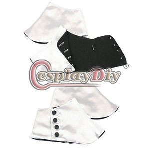 Image 3 - Cosplaydiy Medieval Historical Retro Mens Premium Satin Buttons Spats Victorian Shoes Covers Spats L320