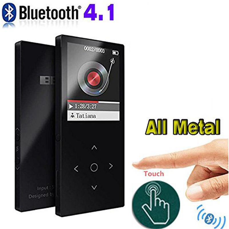 MP3 Player Bluetooh4.1 Metal Original BENJIE K8 Lossless Sound 1.8 Screen Supports FM Radio Voice Recorder MP3 Muisc Player