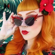 SHAUNA Fashion Women Small Cat Eye Sunglasses Double Colors Frame Cute Ladies Glasses UV400