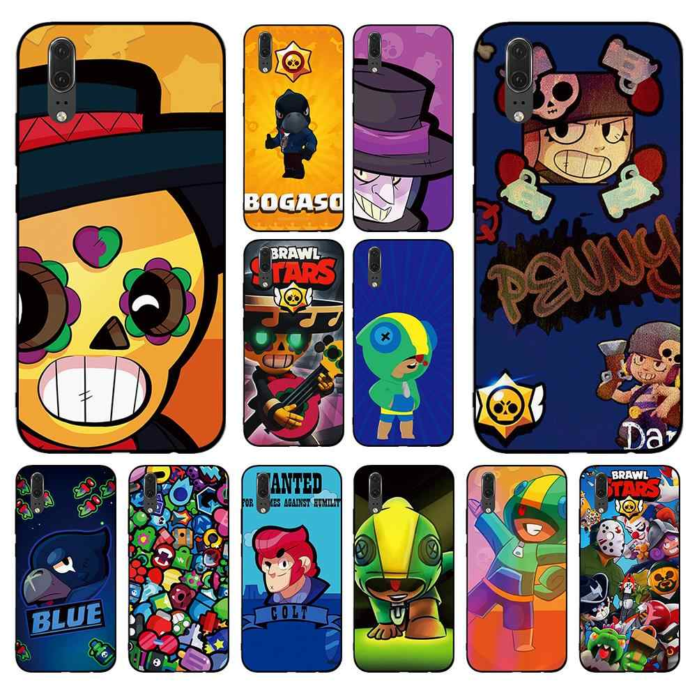Ctue and funny cartoon brawl stars for Huawei P8 P9 P10 P20 P30 Lite Pro P Smart 2016 2019 TPU Soft Silicone