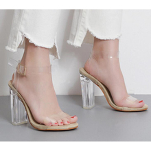 2017 Women High Heel Sandals Sexy Crystal Transparent Women Shoes Fish head High Platform Shoes Large Size sandalias mujer z582