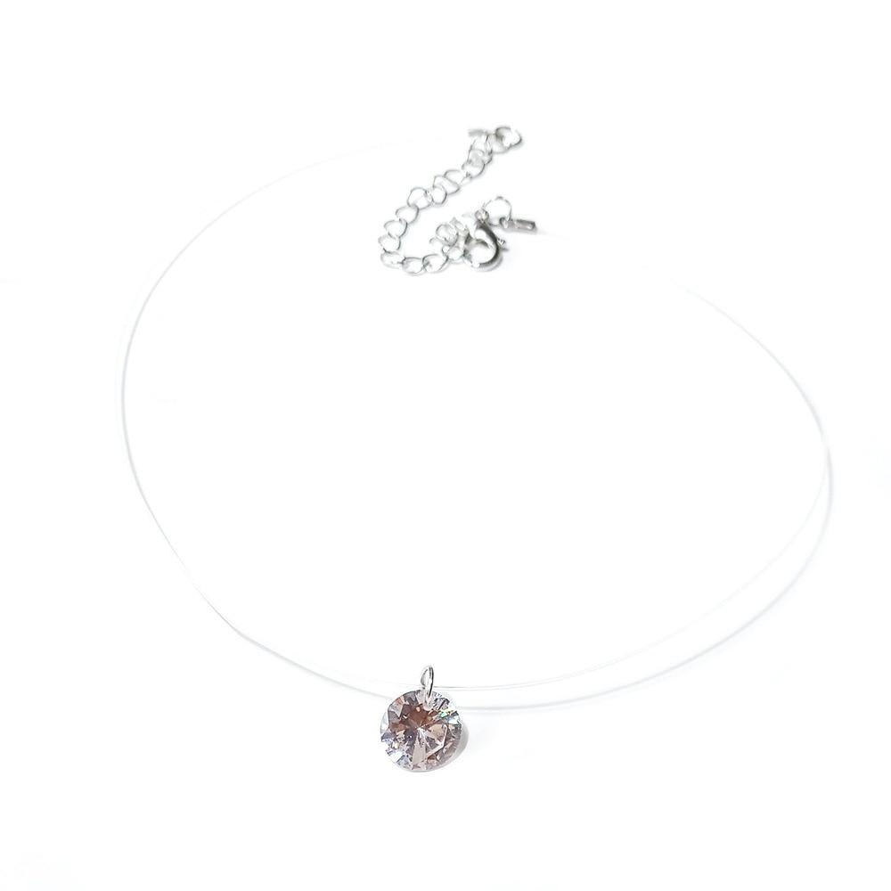 Богемное ожерелье-чокер с Луной звездой и кристаллами в виде сердца для женщин, ожерелье с кулоном на шею, чокер, ожерелье, ювелирное изделие, подарок - Окраска металла: crystal