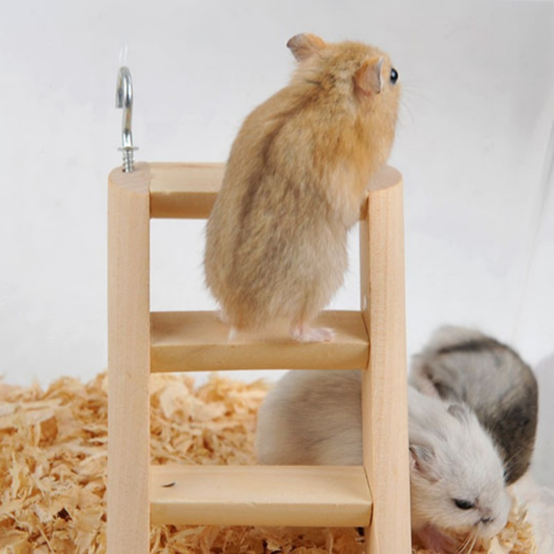 Hamster Ladder Pet Stand Wooden Climbing Toy Perch Ladder For Hamster Guinea Pig